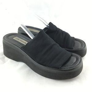Vintage 90s slinky slide sandals black stretchy